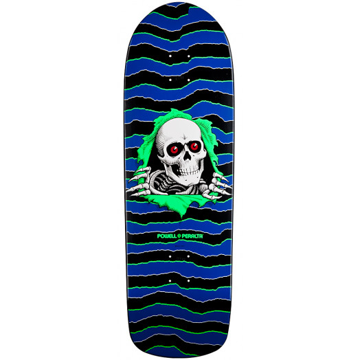 Powell Peralta Old School Ripper Skateboard Deck Blue/Green - 10 x 31.75