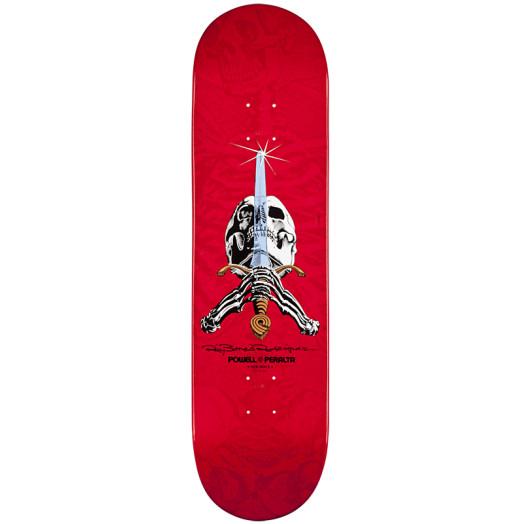 Powell Peralta Rodriguez Skull & Sword Skateboard Deck - 8.75 x 33.25
