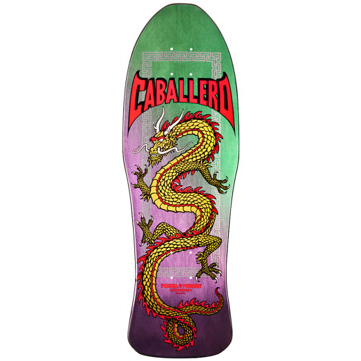 Powell Peralta Steve Caballero Chinese Dragon Skateboard Deck Purple (Blem) - 10 x 30