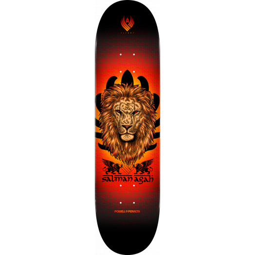 Powell Peralta Flight® Salman Agah Lion Skateboard Deck - Shape 245 - 8.75 x 32.95