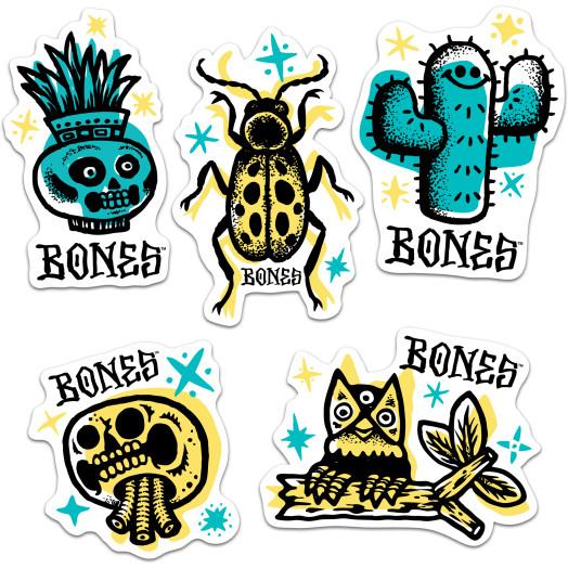 "BONES WHEELS Earth Rollers 3"" Sticker Singles - All 5 graphics"
