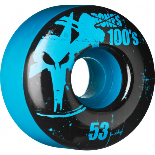 BONES WHEELS 100 Slims 53mm - Blue (4 pack)