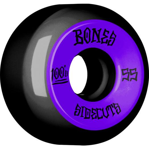 BONES WHEELS 100 #2 V5 Skateboard Wheel 55mm 4pk Black V5 Sidecut