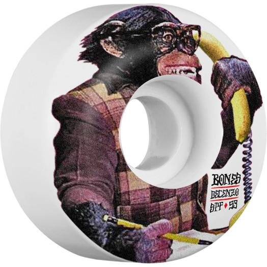 BONES WHEELS STF Pro Decenzo Monkey Skateboard Wheels Locks 53mm 4pk