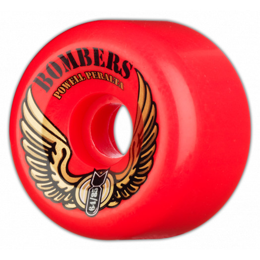 Powell Peralta Bombers 64mm 85a - Red (4 pack)