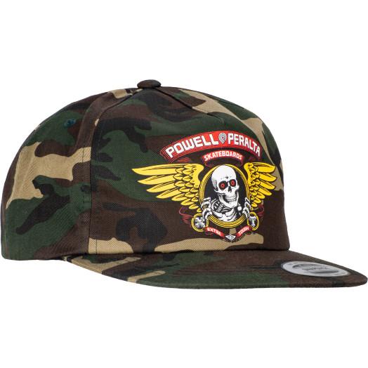 Powell Peralta Winged Ripper Snap Back Cap - Camo