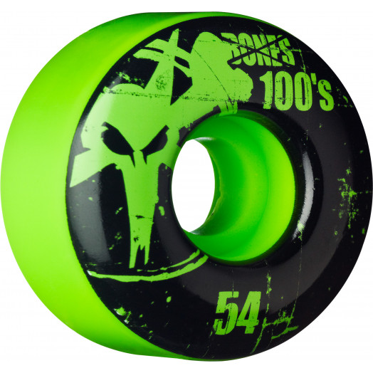 BONES WHEELS 100 Slims 54mm - Green (4 pack)