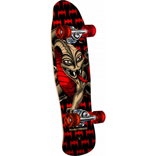 Powell Peralta Mini Cab Dragon Black Complete Skateboard - 8 x 29.5