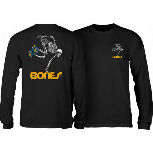 Powell Peralta Skateboarding Skeleton L/S Shirt Black
