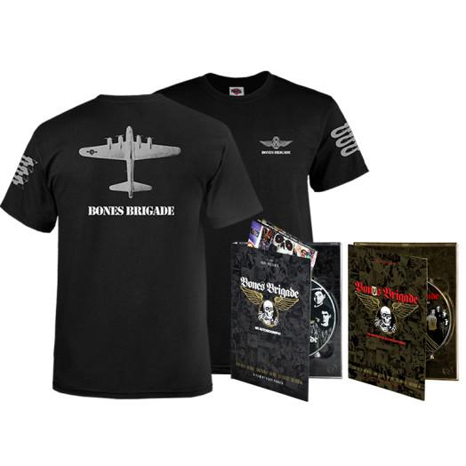 BONES BRIGADE: An Autobiography Blu-Ray/DVD + Black Bomber T-Shirt + Bonus Brigade DVD Combo