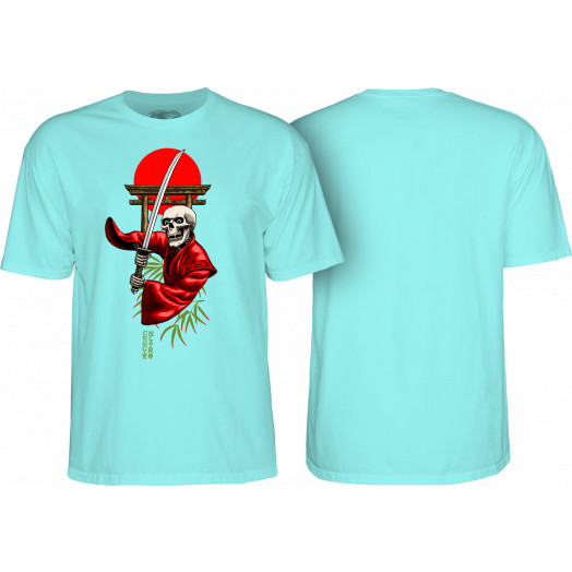 Powell Peralta Pro Charlie Blair Bushido T-shirt Aqua