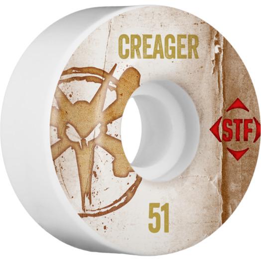 BONES WHEELS STF Pro Creager Team Vintage Wheel 51mm 4pk