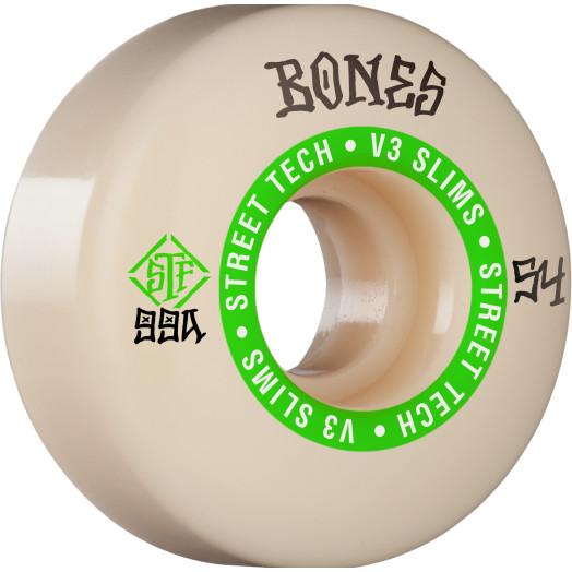 BONES WHEELS STF Skateboard Wheels Ninety-Nines 54mm V3 Slims 99a 4pk