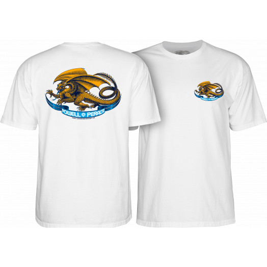 Powell Peralta Oval Dragon White T-shirt