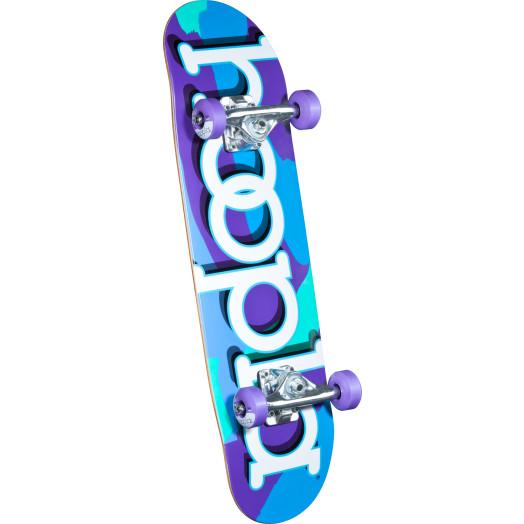 hoopla Purple Camo Complete Skateboard - 7.5 x 28.65