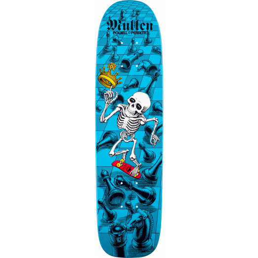 Bones Brigade® Mullen Chess Reissue Skateboard Deck Blue - 7.4 x 27.625