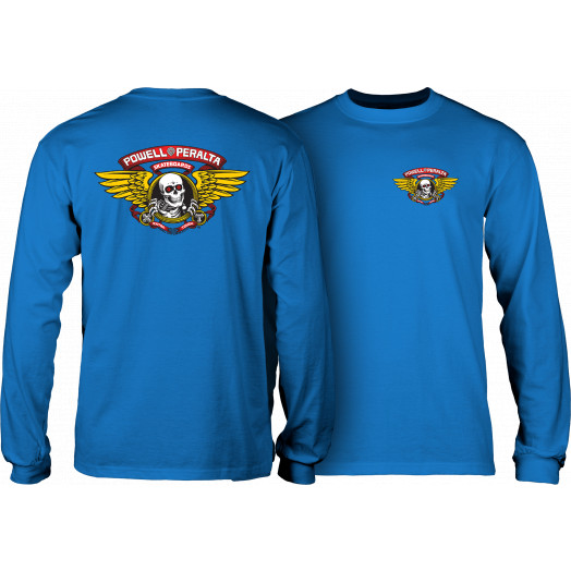 Powell Peralta Winged Ripper L/S T-shirt - Royal Blue