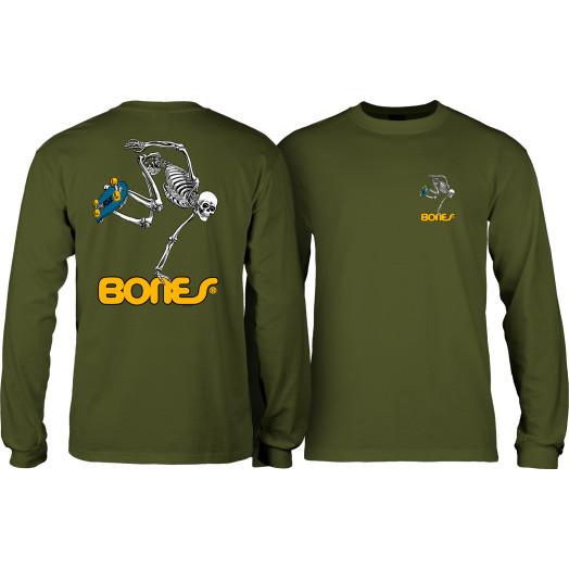 Powell Peralta Skateboarding Skeleton YOUTH L/S - Military Green