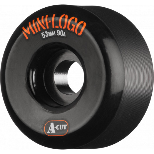 Mini Logo Skateboard Wheels A-cut 53mm 90A Black 4pk