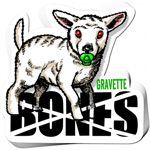 BONES WHEELS Pro Gravette Sticker 20 pack