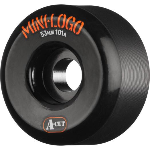 Mini Logo Skateboard Wheels A-cut 53mm 101A Black 4pk