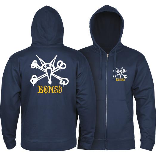 Powell Peralta Rat Bones Hooded Zip Sweatshirt - Navy