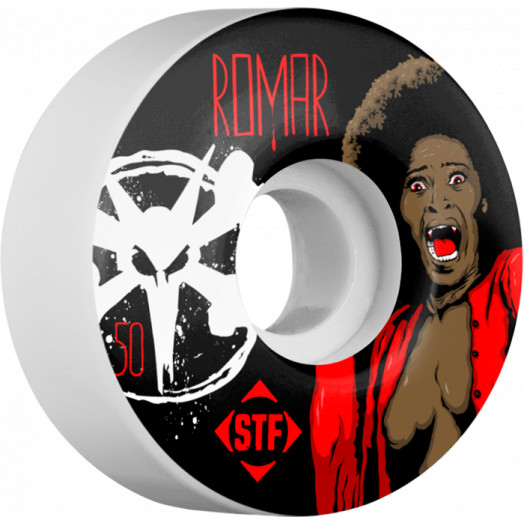 BONES WHEELS STF Pro Romar Blood 50mm wheels 4pk