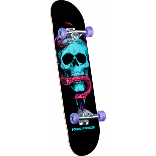 Powell Peralta Blacklight Skull & Snake Purple Complete - 7.625 x 31.625