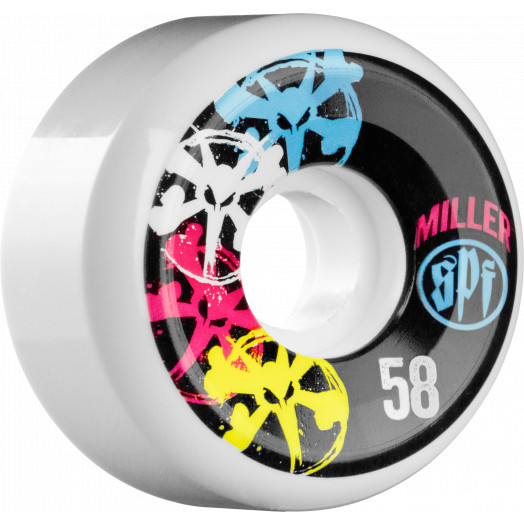 BONES WHEELS SPF Pro Miller CMYK 58mm 4pk