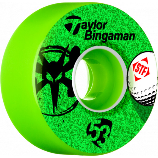 BONES WHEELS STF Pro Bingaman Aced 53mm wheels 4pk Green