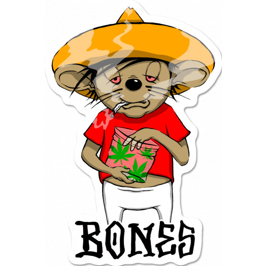 BONES WHEELS Weedy Sticker Single
