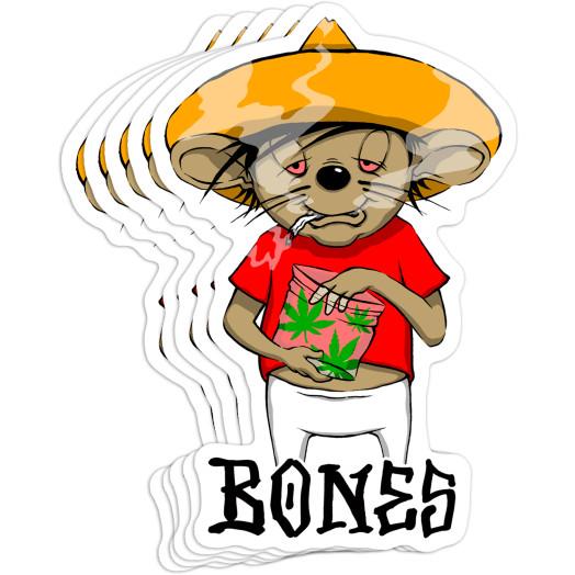 BONES WHEELS Weedy Sticker 20pk