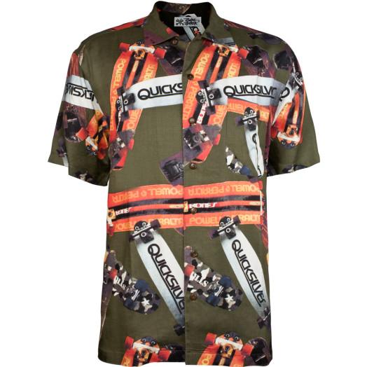 Powell Peralta Hawaiian Print Shirt - Olive