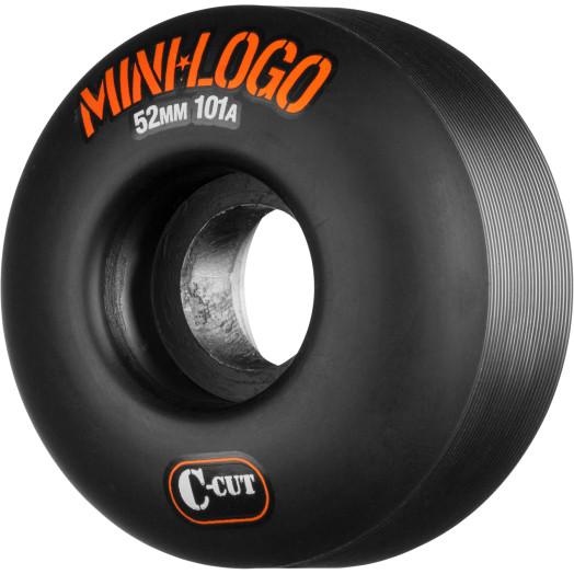 Mini Logo Skateboard Wheel C-cut 52mm 101A Black 4pk