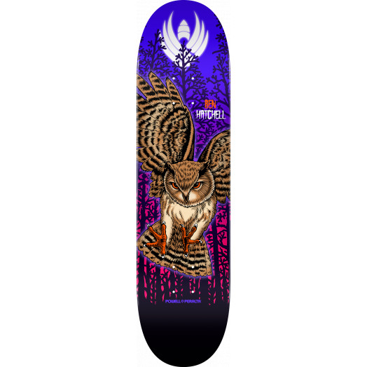 Powell Peralta Pro Ben Hatchell Owl Flight® Skateboard Deck - Shape 249 - 8.5 x 32.08