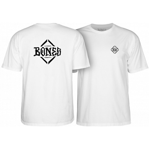BONES WHEELS Diamond T-shirt White