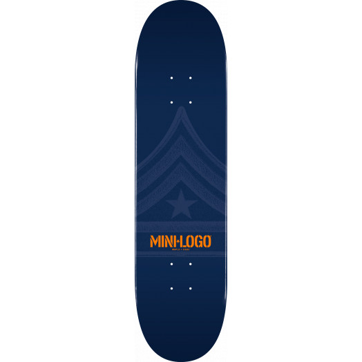 Mini Logo Quartermaster Skateboard Deck 126 Navy - 7.625 x 31.625