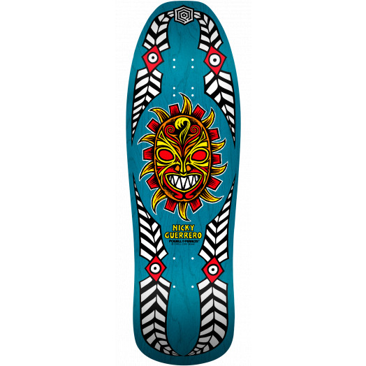Powell Peralta Nicky Guerrero Mask Skateboard Deck Blue - 10 X 31.75