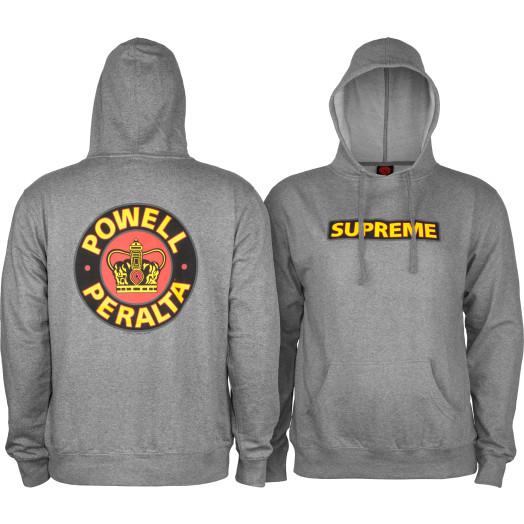 Powell Peralta Classic Supreme Lightweight Hooded Sweatshirt Gunmetal