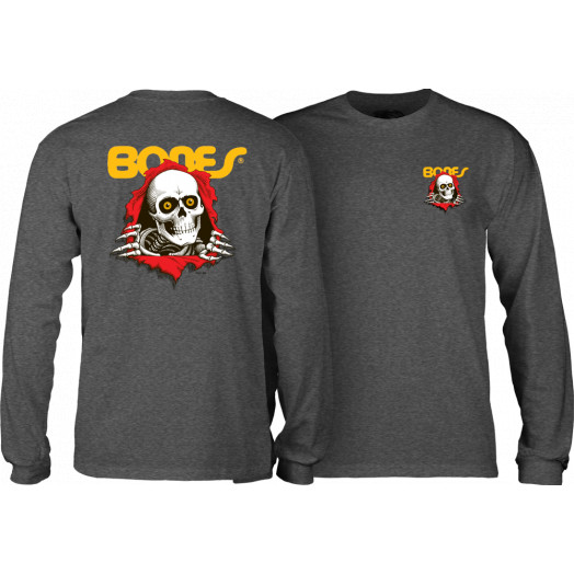 Powell Peralta Ripper Youth Longsleeve Charcoal
