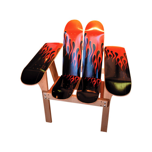 Powell Hot Rod Flames Chair
