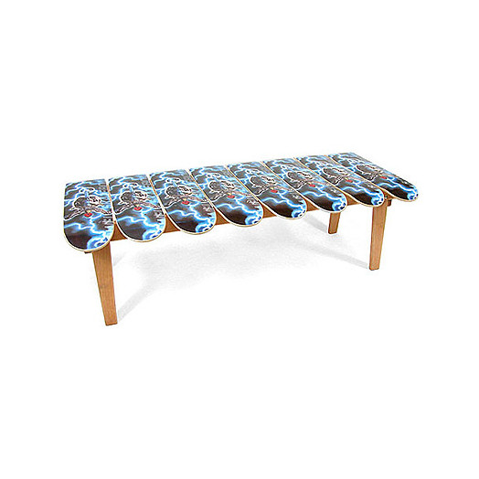 Deck Coffee Table (Hot Rod Flames)