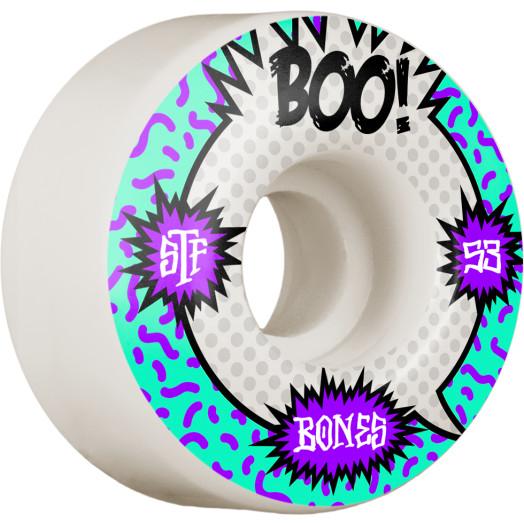 BONES WHEELS PRO STF Skateboard Wheels Boo Raps 53mm V4 Wide 103A 4pk