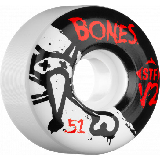 BONES STF V2 Series 51x28 Skateboard Wheel 83B 4pk