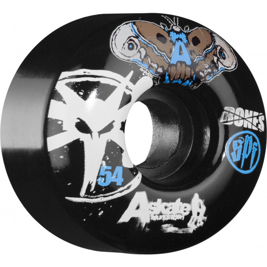 BONES WHEELS SPF A-Skate Benefit 54mm - Black (4 pack)