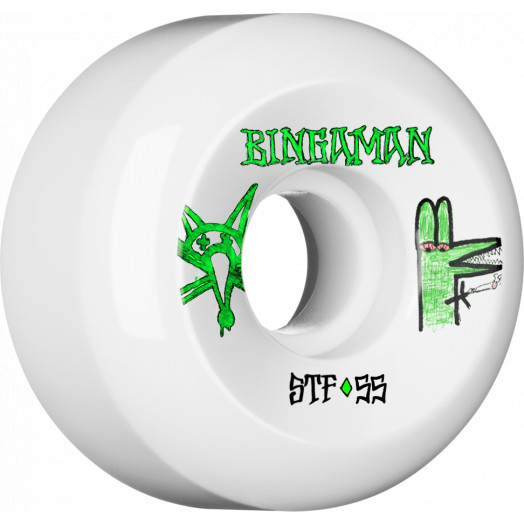 BONES WHEELS STF Pro Bingaman Burney 55x32 V5 Skateboard Wheels 83B 4pk