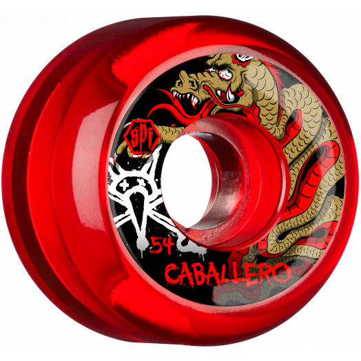 BONES WHEELS SPF Pro Caballero Dragon 54x31 P5 Skateboard Wheels 84B 4pk Clear Red