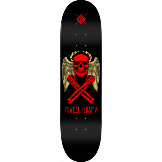 Powell Peralta Halo Bolt Skateboard Deck Black - Shape 248 - 8.25 x 31.95