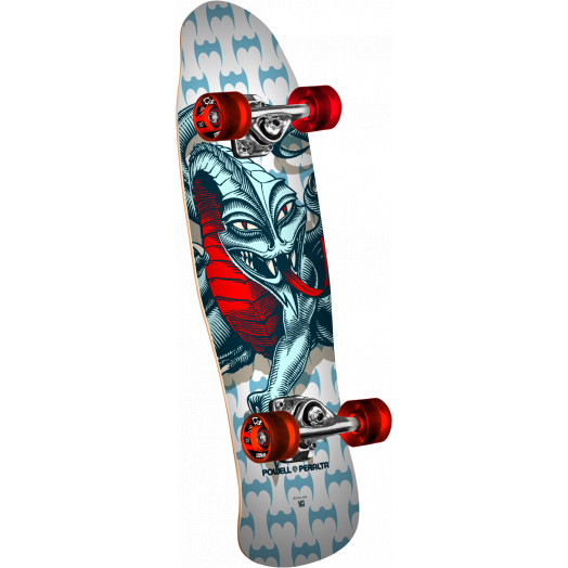 Powell Peralta Mini Cab Dragon White Complete Skateboard - 8.0 x 29.5
