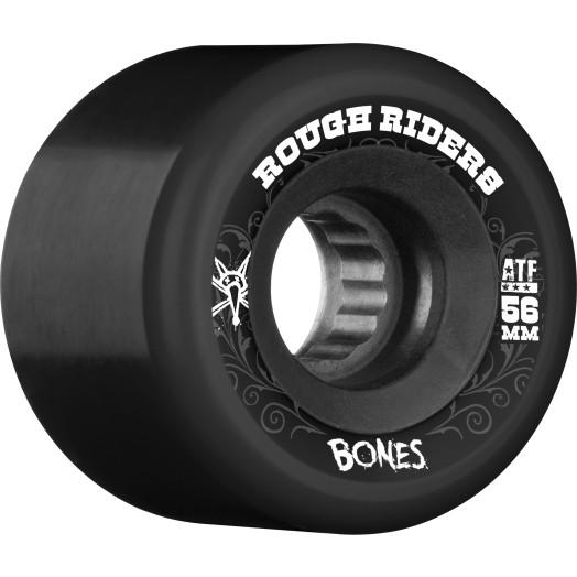 BONES WHEELS Rough Riders 56mm Black Wheel 4pk